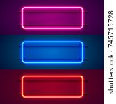 neon frame sign in the shape of ... | Shutterstock .eps vector #745715728