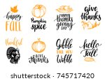 tags with lettering and... | Shutterstock .eps vector #745717420