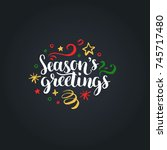 Seasons Greetings Lettering On...