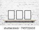 hite blank photo... | Shutterstock . vector #745722610