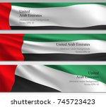 national uae vector banners....   Shutterstock .eps vector #745723423