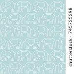 elephant pattern. hand drawn...   Shutterstock .eps vector #745725298