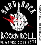 hard rock music poster | Shutterstock .eps vector #745730803