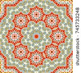 colorful symmetrical pattern... | Shutterstock . vector #745733248