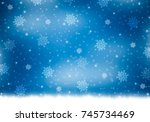 Blue Winter Background With...