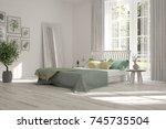 inspiration of white minimalist ... | Shutterstock . vector #745735504