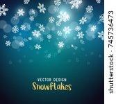 slowly falling christmas... | Shutterstock .eps vector #745736473