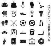 hockey icons set. simple set of ... | Shutterstock . vector #745741438