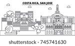 costa rica  san jose... | Shutterstock .eps vector #745741630