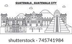 guatemala   guatemala city... | Shutterstock .eps vector #745741984