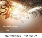 luxury greeting spring card.... | Shutterstock .eps vector #74575129
