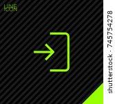 enter door line vector icon   Shutterstock .eps vector #745754278