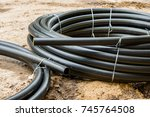 polypropylene pipes for gas   Shutterstock . vector #745764508