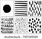 set of hand drawing cards.... | Shutterstock .eps vector #745769434