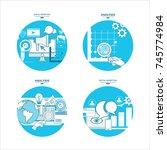 digital marketing concept....   Shutterstock .eps vector #745774984