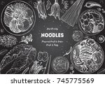 asian food engraved sketch.... | Shutterstock .eps vector #745775569