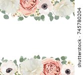vector floral card design with...   Shutterstock .eps vector #745780204