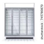 fridge with transparent glass... | Shutterstock . vector #745780870