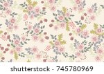 seamless gorgeous pattern in...   Shutterstock . vector #745780969