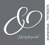 elegant and stylish custom... | Shutterstock .eps vector #745782076