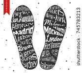Footprint Lettering. Capitals...