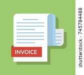 concept of the invoiced... | Shutterstock .eps vector #745784488