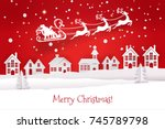 paper cut out and craft winter... | Shutterstock .eps vector #745789798