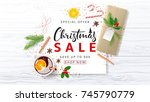 promo christmas banner for... | Shutterstock .eps vector #745790779