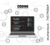 modern languages web... | Shutterstock .eps vector #745790869