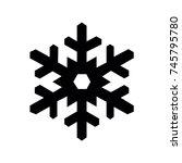 snowflake icon  snowflake icon... | Shutterstock .eps vector #745795780