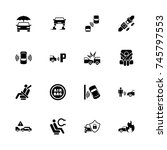 auto safety icons   expand to... | Shutterstock .eps vector #745797553