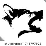 black and white linear paint... | Shutterstock .eps vector #745797928