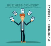 business concept. successful... | Shutterstock .eps vector #745806523