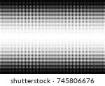 halftone fade gradient... | Shutterstock .eps vector #745806676