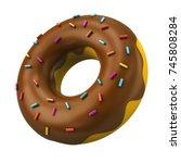 Chocolate Donut With Decorativ...