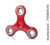 red popular fidget spinner toy... | Shutterstock . vector #745809154