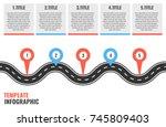 navigation winding road vector... | Shutterstock .eps vector #745809403