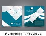 square flyer template. brochure ... | Shutterstock .eps vector #745810633