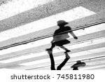 shadow and silhouette of a... | Shutterstock . vector #745811980