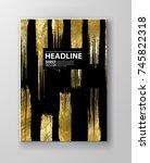 vector black and gold design... | Shutterstock .eps vector #745822318
