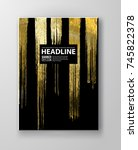 vector black and gold design... | Shutterstock .eps vector #745822378