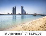 abu dhabi skyline  united arab... | Shutterstock . vector #745824103