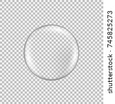 transparent glass sphere with... | Shutterstock .eps vector #745825273