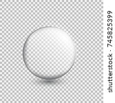 transparent glass sphere with... | Shutterstock .eps vector #745825399