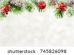holiday background with... | Shutterstock . vector #745826098