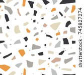 abstract terrazzo mosaic... | Shutterstock .eps vector #745827274