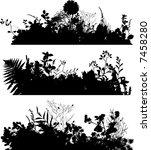 flowers and grass vector... | Shutterstock . vector #7458280