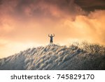 victory  motivational image ... | Shutterstock . vector #745829170
