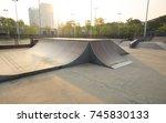 Skatepark Ramps In The Sunrise