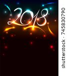 new years 2018 invitation with... | Shutterstock .eps vector #745830790